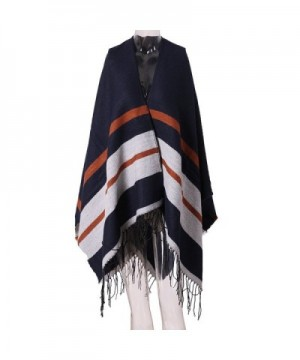 Fashion Warm Long Scarf- Time and River Unisex Knitted Shawl Warm Large Scarf - Navy Cape - CC189YRX0ZI