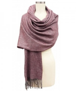 Vera Womens Oversized Mareld Scarf Cashmere Feel Made In Italy - Dark Red - C71883XSDY6