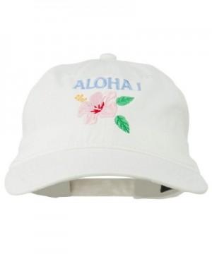 Hawaii Flower Aloha Embroidered Washed