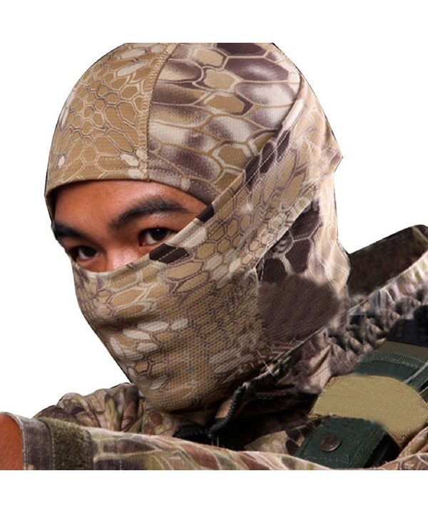 ABC Camouflage Army Cycling Motorcycle Cap Balaclava Hats Full Face Mask (Khaki) - CM11Z0HT1ZP