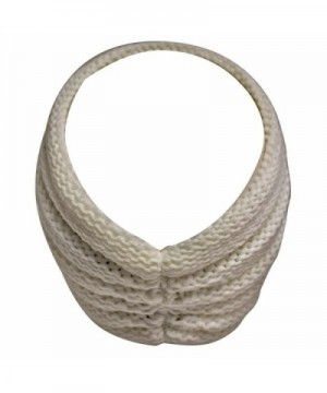 Ivory Ribbed Headband Floral Design in Women's Skullies & Beanies