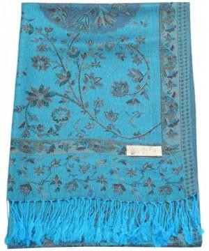 Turquoise Reversible Pashmina CJ Apparel