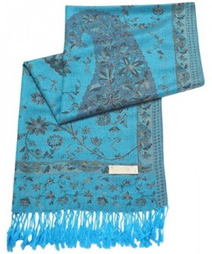 Turquoise Reversible Pashmina CJ Apparel in Wraps & Pashminas