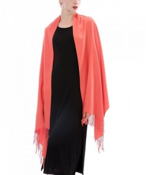 Aolige Cashmere Blanket Tassel Orange