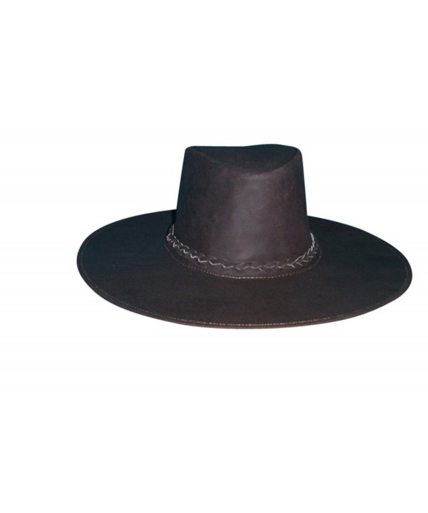 Sharpshooter Joe Kidd Clint Eastwood Bounty Hunter Brown Leather Cowboy Hat - CU11N3BGILF