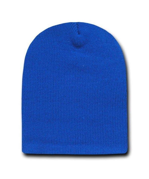 Decky 8 Inch Short Knit Beanie Ski Cap (One Size- Royal Blue) - CI110H02TCR