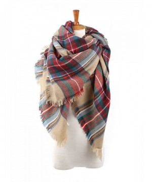 Absolutely Perfect Plaid Checked Autumn Winter Tartan Scarf Shawl Large Blanket - A Brown Mix - CJ12N0HPTKX