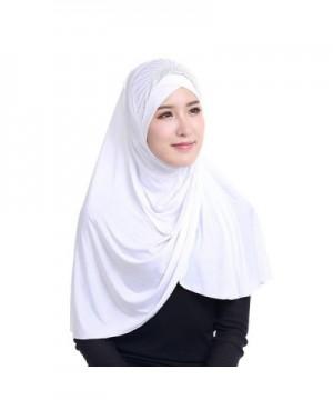 Daxin Bonnet Ninja Neck Cover Muslim Islamic Wrap Scarfs Lightweight Hijab Scarf - White - CE12NQXXIRW