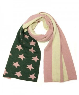 Wrapables Vintage Old Glory American Flag Scarf - Pink/Green - CJ11RX4EKP9