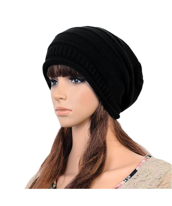 AStorePlus Fashion Knitted Slouchy Oversized - Black - CN12OCMEUCK