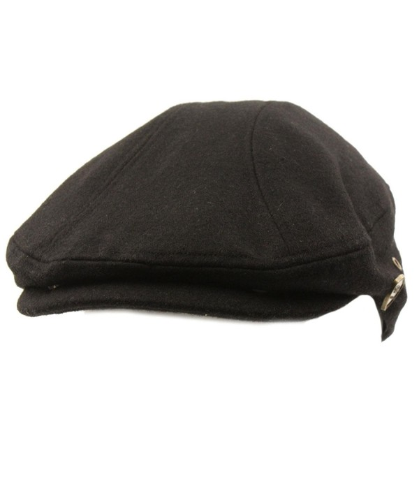8df804734db72 On sale! New. Men s Front Snap Wool Solid Flat Golf Ivy Driving Cabby Cap  Hat - Black - CJ11HZHG629