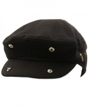 Front Solid Driving Cabby Hat in Men's Newsboy Caps