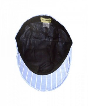 Blue Striped Old English Ivy in Men's Newsboy Caps