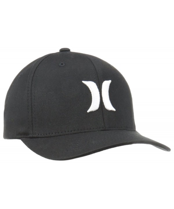 Hurley Men's One and Only Black White Hat Flex Fit - Black/White - CK12MWYJ30K