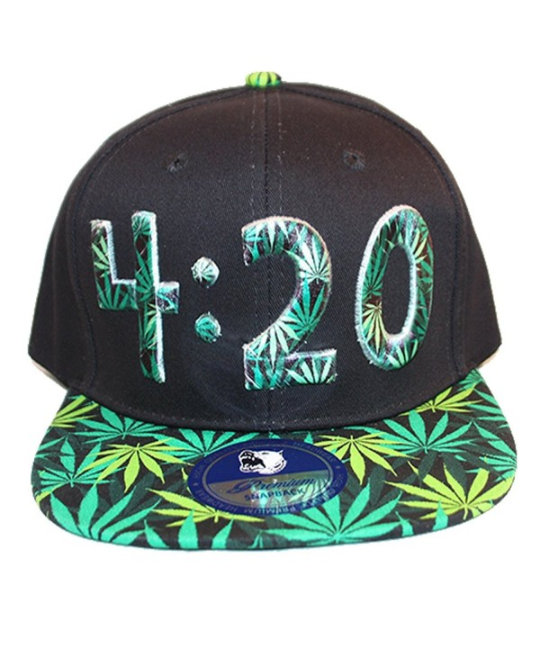 Loyal Cloth Weed 420 Snapback Design Cap - Full Weed - CL129W1K74D