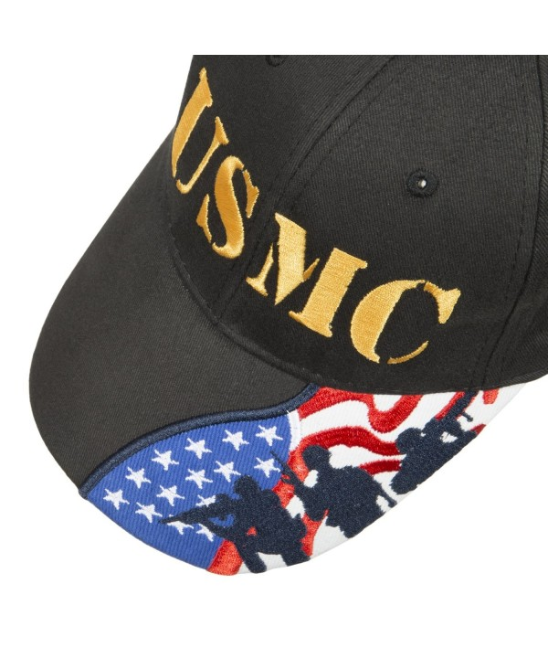US Marines Corps embroidered cap Few Proud Military USA Insignia Adjustable Baseball Caps Hat - Usmc Black - CE187DY84CA