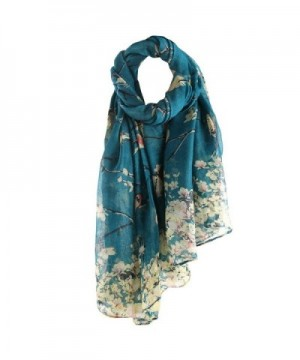 DEESEE(TM) Women Animal Printed Long Scarf Voile Warm Wrap Shawl - Blue - CB12O8HV73E
