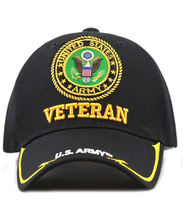 THE HAT DEPOT Military Licensed 3D Embroidered Veteran Baseball Cap - Black-u.s. Army - CD189NQ4AQY