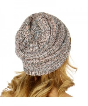 C C Unisex Multicolor Cable Beanie in Women's Skullies & Beanies