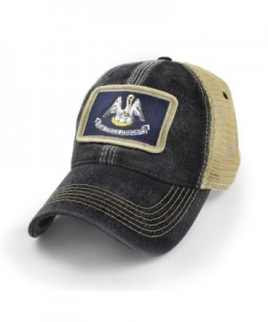 State Legacy Revival Louisiana Flag Patch Trucker Hat- Black - CK183LLTYTZ