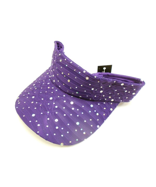 Purple Sparkle Visor - CZ112RSZ9C9