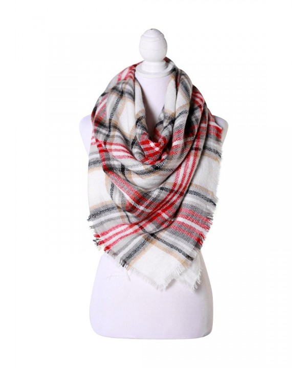 Red/White/Black Women Fashion Warm Winter Blanket Scarf FunkyMonkey Fashion - CO1874U9XIU