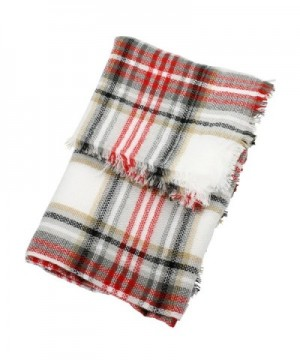 Red White Fashion Blanket FunkyMonkey in Fashion Scarves