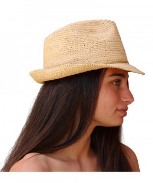 Palms Sand Melrose Fedora Natural in Women's Fedoras