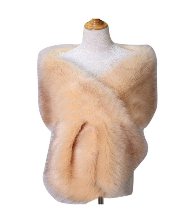 Yiweir Women's Extra Large Faux Fur Shawls Scarves for Winter to Keep Warm - A27 - CT186YHKN4A