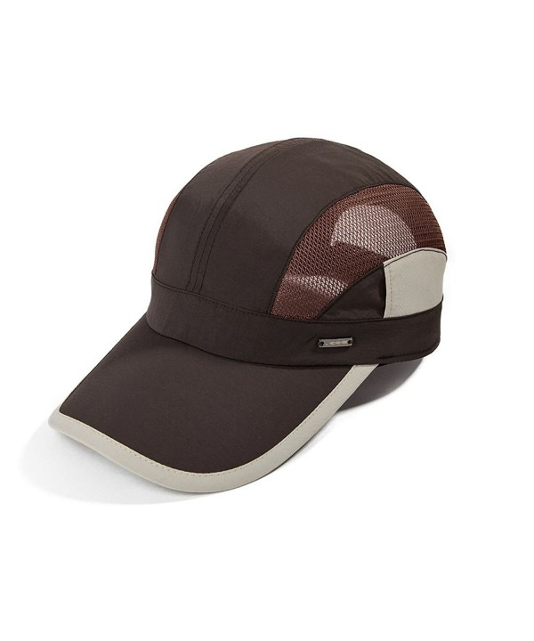 Topex Mens UPF50 Quick-Dry Baseball Cap Free-Size Sun Hat Running Cap Unisex - 16018_coffee - CW12K78DLHZ