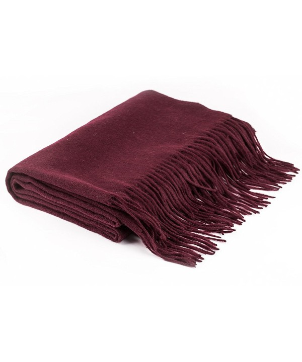 Sanphy Super Soft Scarf 23% Virgin Wool Scarves Warm Long Fashion Scarf - Dark Purple - C61802EET4M