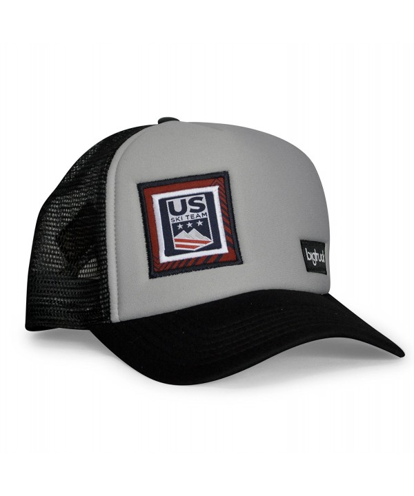 bigtruck USST Original Mesh Snapback Trucker Hat- Grey Black - CD186H320ZQ
