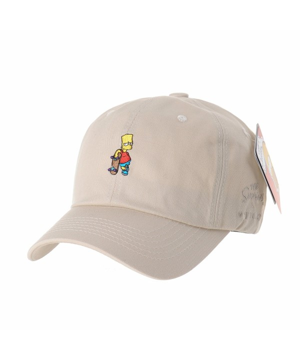 WITHMOONS Simpsons Baseball Skateboard Embroidery - Beige - CY12OCXLYV3