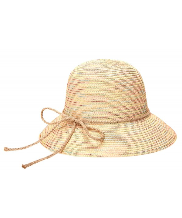 Dosoni Women Straw Sun Visor Floppy Fold Swimming Beach Bohemia Sun Hat for Travel Beach - Beige - CL17YKXLAU9