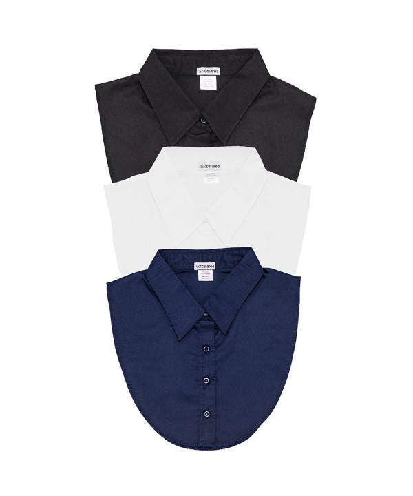 LS Parry Inc. 3Pk Black/Navy/White Collared Dickies by IGotCollared Accessory- -Black- Navy- White- One Size - CU12O7K88OY