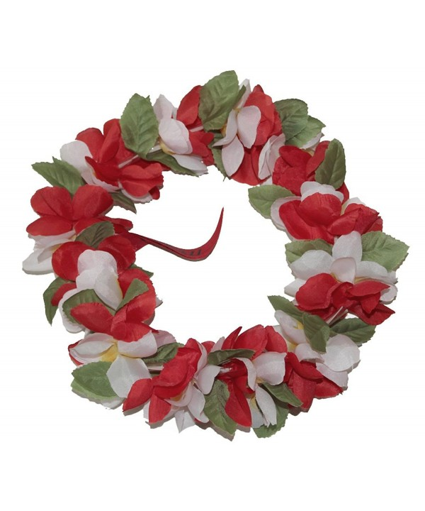 The Hawaii Elastic Headband-haku lei - Red /White - CA186W5A24A