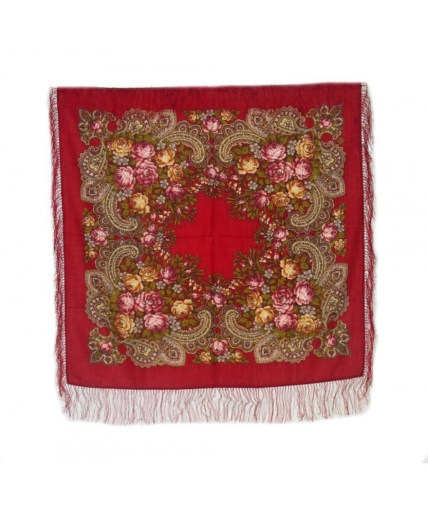 Medium Russian Woolen Shawl 77905 (silk fringe) - C0128T0OBL3