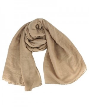 Women Soft Cotton Hemp Scarf Shawl Long Scarves Travel Sunscreen Pashmina - Khaki - C9185YAKDK3