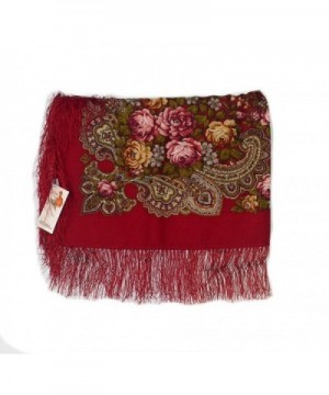 Medium Russian Woolen 77905 fringe in Wraps & Pashminas