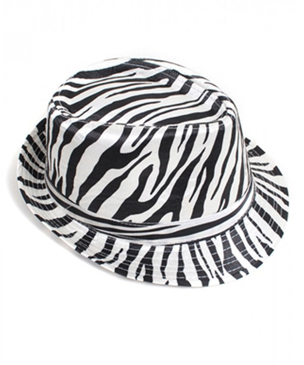 Exotic Animal Pattern Fedora Hat - Zebra - CK116ATO9TT
