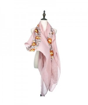 RiscaWin Lightweight Exquisite Embroidered Rosebloom in Fashion Scarves