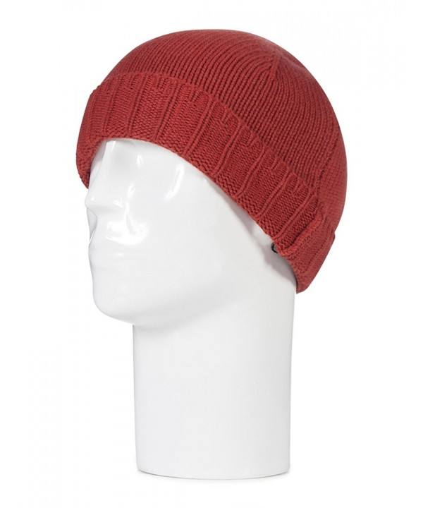 Great and British Knitwear Mens 100 Percent Cashmere Plain Knit Hat. Made In Scotland - Brandy Snap - CA12O62U4I3