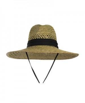 Vented Straw Lifeguard 4 5 inch Wide Strap in Men's Sun Hats