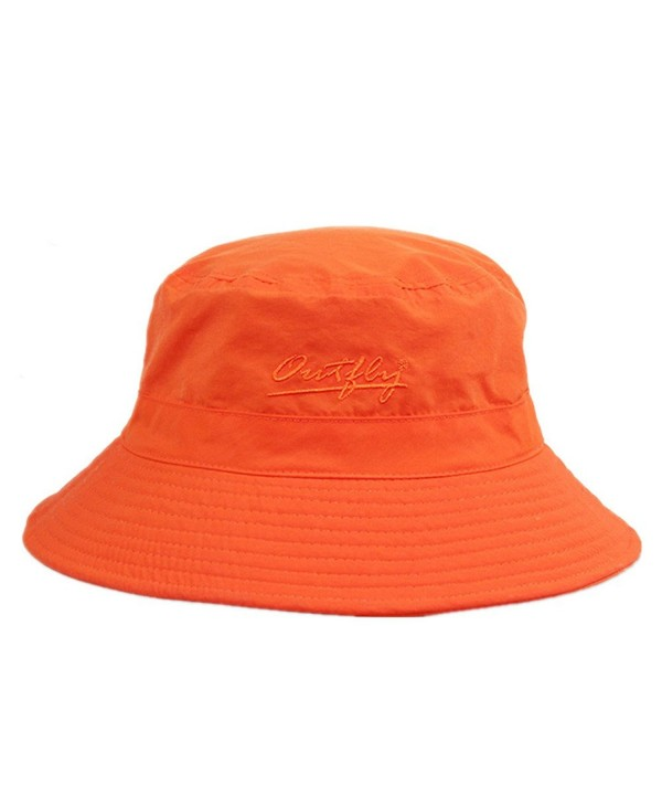 77f6e11dd637f7 Home Prefer Unisex Mens Womens Daily Summer Hat Plain Sun Protection Bucket  Hat - Orange -