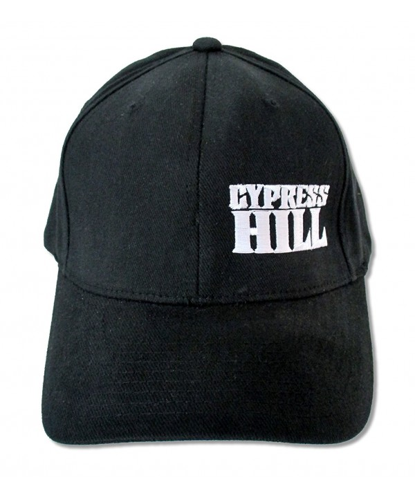 Adult Cypress Hill White Logo Black Baseball Cap Hat - CY128NQRWHD