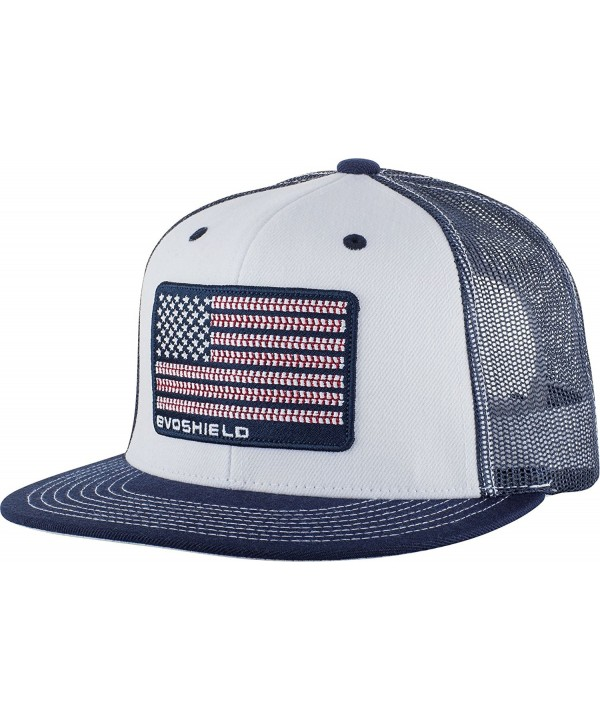 Evoshield Flag Patch Snapback Cap - White/Navy - CL12N779BGQ
