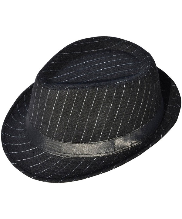 Simplicity Men Women Fashion Trilby Wool Fedora Hats - 3074_black - CA11NSRRS95