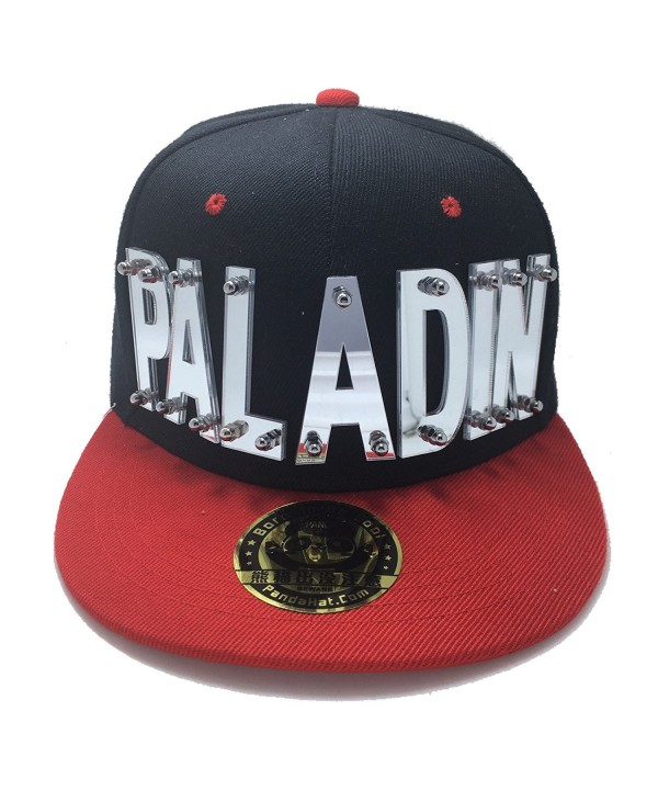 PALADIN VOLTRON HAT IN BLACK WITH RED BRIM - Reflective Silver - C31887Q7ICY