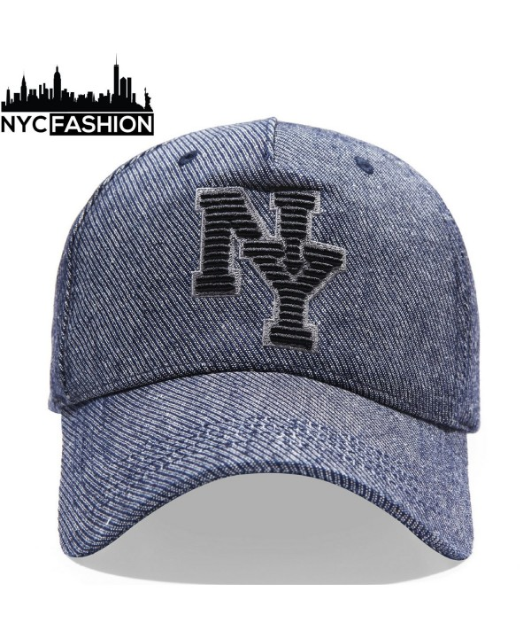 NYC-Fashion Baseball Cap  NY Insignia  Cotton Hat  Adjustable Leather Strap (Grey) - CR188HHE77T