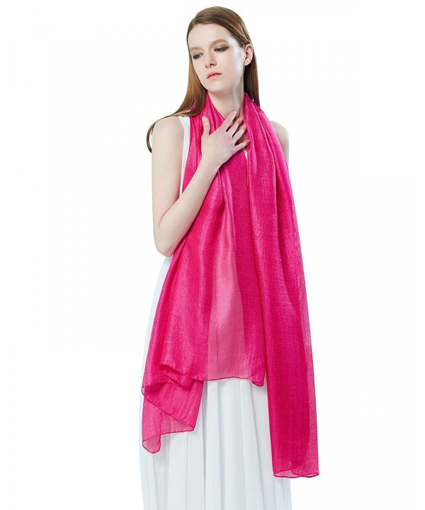 STORY OF SHANGHAI Womens Large Silky Feel Plain Scarf Ladies Solid Color Shawl Wraps - Yy04 - CD17YIXTCM8